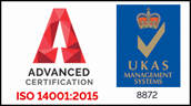 Advanced Certification ISO 14001:2015 - UKAS 8872