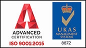 Advanced Certification ISO 9001:2015 - UKAS 8872